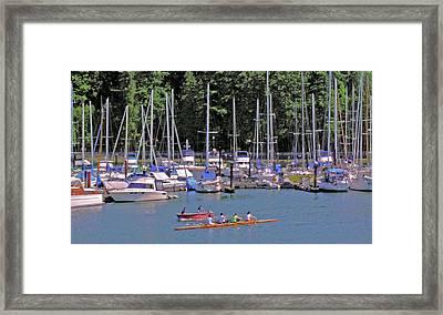 Vancouver Marina No. 1 Framed Print by Sandy Taylor