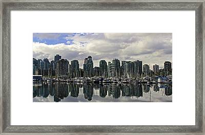 Vancouver Marina Framed Print by Walter Fahmy