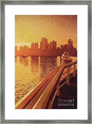 Vancouver Morning- Bc Framed Print by Ryan Fox