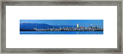 Vancouver Panorama   This Can Be Printed Very Large Framed Print by Pierre Leclerc Photography