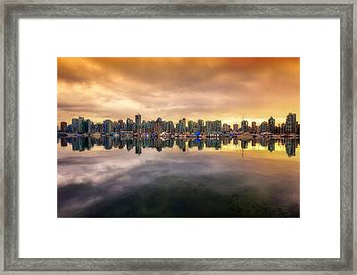 Framed Print featuring the photograph Vancouver Reflections by Eti Reid