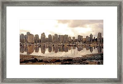 Vancouver Reflections Framed Print by Linda  Parker