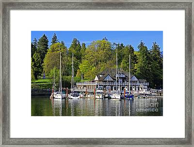 Vancouver Rowing Club In Stanley Park Framed Print by Charline Xia