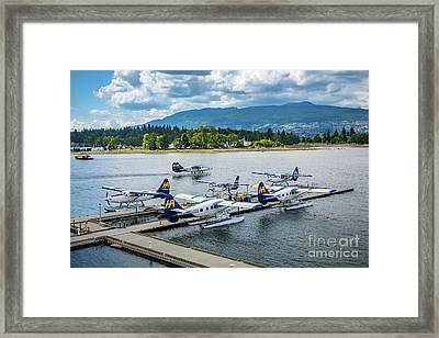 Vancouver Seaplanes Framed Print by Inge Johnsson