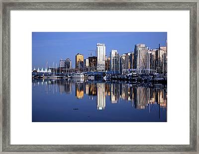 Vancouver Skyline Framed Print by Alasdair Turner