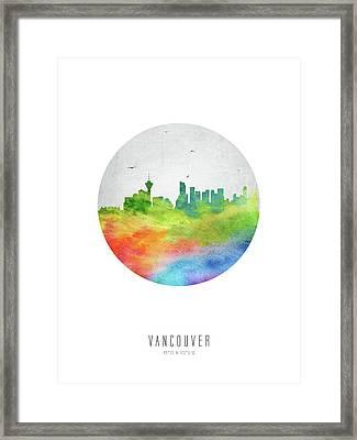 Vancouver Skyline Cabcva20 Framed Print