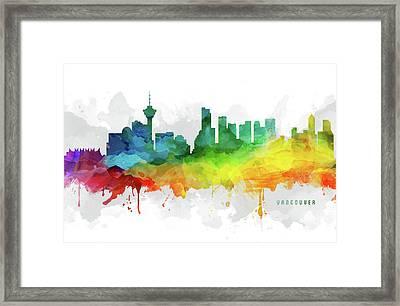 Vancouver Skyline Mmr-cabcva05 Framed Print