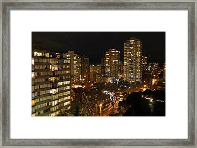 Vancouver Skyline Framed Print by Nancy Harrison