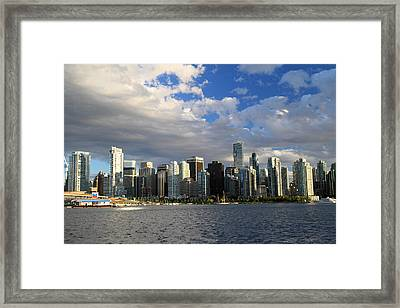 Vancouver Sunset From Stanley Park Framed Print by Pierre Leclerc Photography