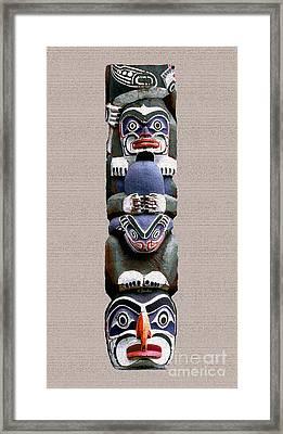 Vancouver Totem - 2 Framed Print by Linda  Parker