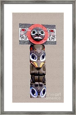Vancouver Totem - 3 Framed Print by Linda  Parker