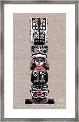 Vancouver Totem - 5 Framed Print by Linda  Parker