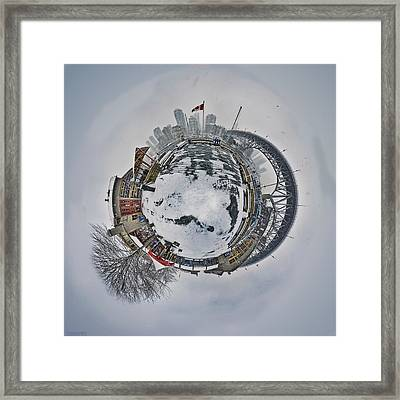 Vancouver Winter Planet Framed Print by Mauricio Ricaldi
