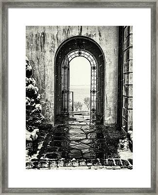 Vanderbilt Doorway In Centerport Framed Print