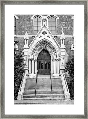 Vanderbilt University Kirkland Hall Entrance Framed Print by University Icons