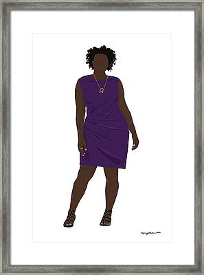 Framed Print featuring the digital art Vanessa by Nancy Levan