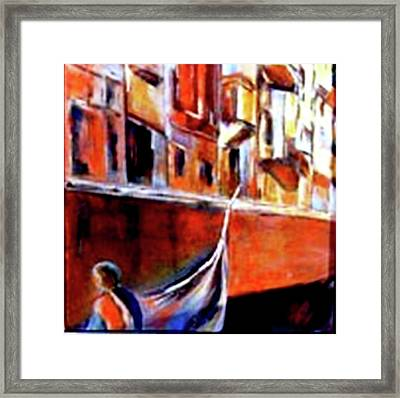 Vanice Canal Cruise 2 Framed Print