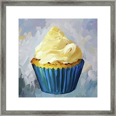 Vanilla Cupcake Framed Print