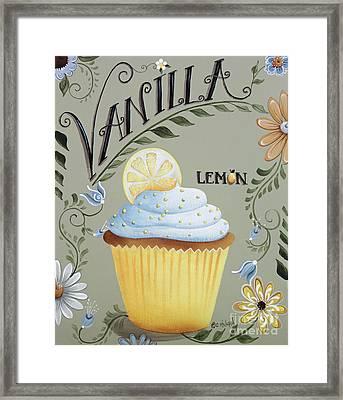 Vanilla Lemon Cupcake Framed Print