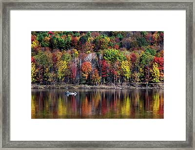 Vanishing Autumn Reflection Landscape Framed Print