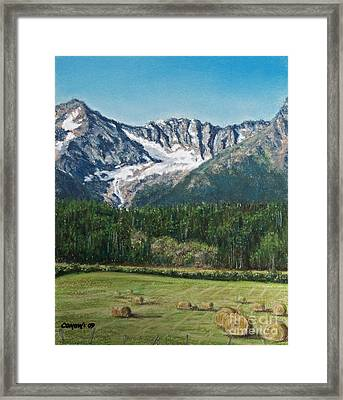 Framed Print featuring the painting Vanishing Glacier by Stanza Widen