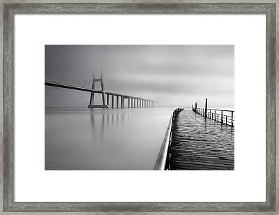 Framed Print featuring the photograph Vanishing by Jorge Maia
