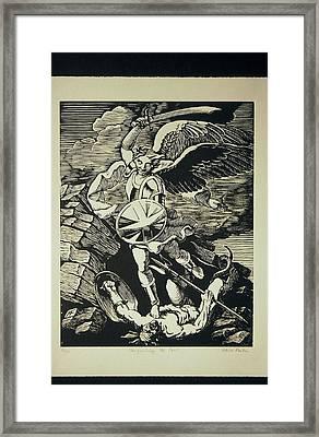 Vanquishing The Devil Framed Print