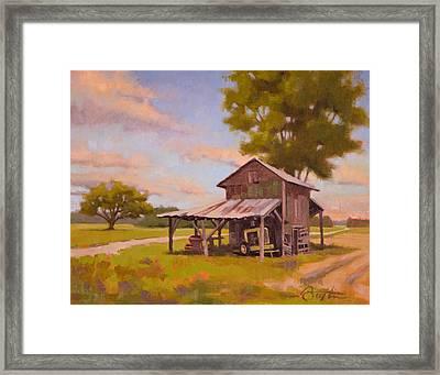 Vanishing Tobacco Barn Framed Print by Todd Baxter