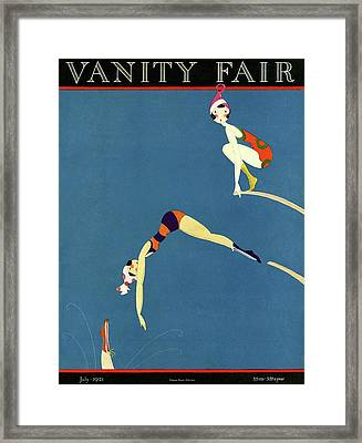 Vanity Fair July 1921 Cover Framed Print by A H Fish