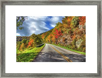 Vantage Point Blue Ridge Parkway Art Framed Print by Reid Callaway