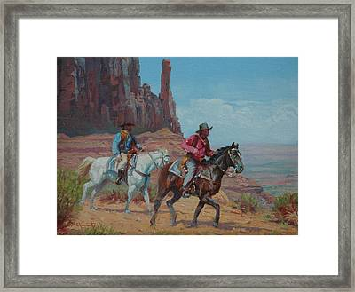 Vantage Point Framed Print by Jim Clements