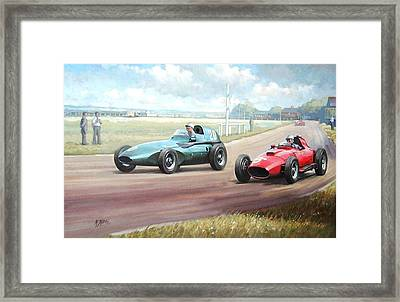 Vanwall Victory Framed Print by Mike  Jeffries