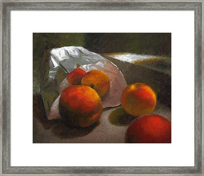 Vanzant Peaches Framed Print