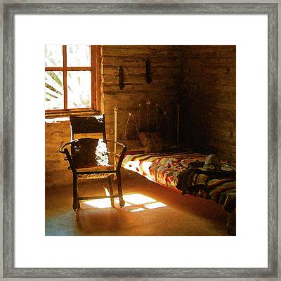 Vaquero's Room Framed Print by Timothy Bulone