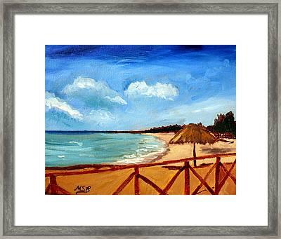 Varadero Beach  Framed Print by Maria Soto Robbins