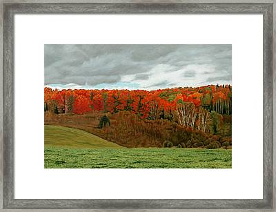 Vardy Settlement Colour Framed Print by Allan OMarra