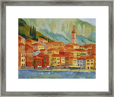 Varenna  Italy Framed Print by Ginger Concepcion