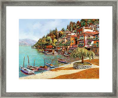 Varenna On Lake Como Framed Print