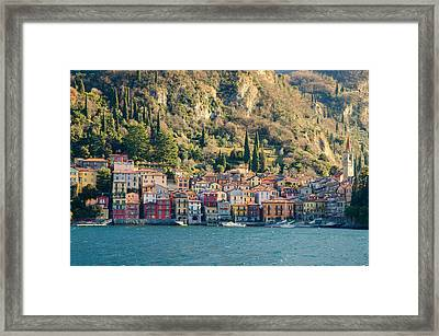 Varenna Village Framed Print by Mats Silvan