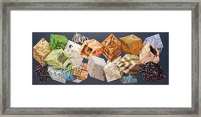 Variations In Stone Framed Print by M Jaquis