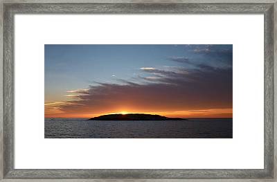 Framed Print featuring the photograph Variations Of Sunsets At Gulf Of Bothnia 1 by Jouko Lehto