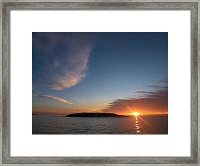 Framed Print featuring the photograph Variations Of Sunsets At Gulf Of Bothnia 2 by Jouko Lehto