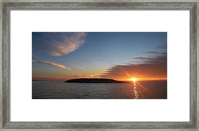 Framed Print featuring the photograph Variations Of Sunsets At Gulf Of Bothnia 3 by Jouko Lehto