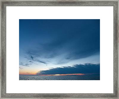 Framed Print featuring the photograph Variations Of Sunsets At Gulf Of Bothnia 4 by Jouko Lehto
