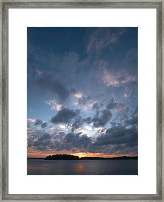 Framed Print featuring the photograph Variations Of Sunsets At Gulf Of Bothnia 5 by Jouko Lehto