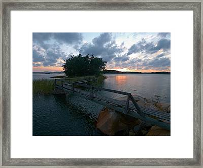 Framed Print featuring the photograph Variations Of Sunsets At Gulf Of Bothnia 6 by Jouko Lehto