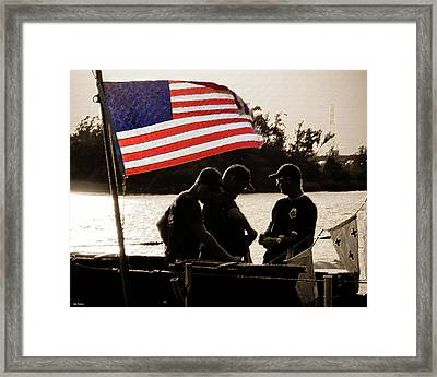 Variations On Old Glory No.3 Framed Print