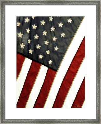 Variations On Old Glory No.4 Framed Print