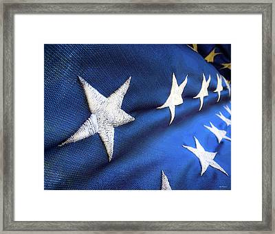 Variations On Old Glory No.5 Framed Print