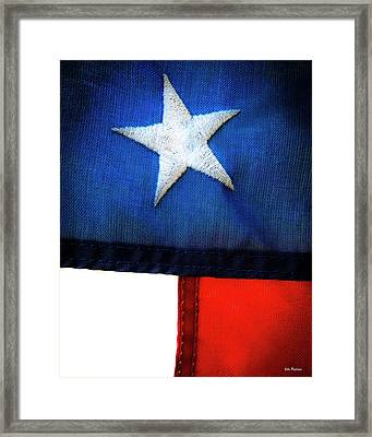 Variations On Old Glory No.7 Framed Print
